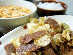 マーボーチャンと肉炒めチャン